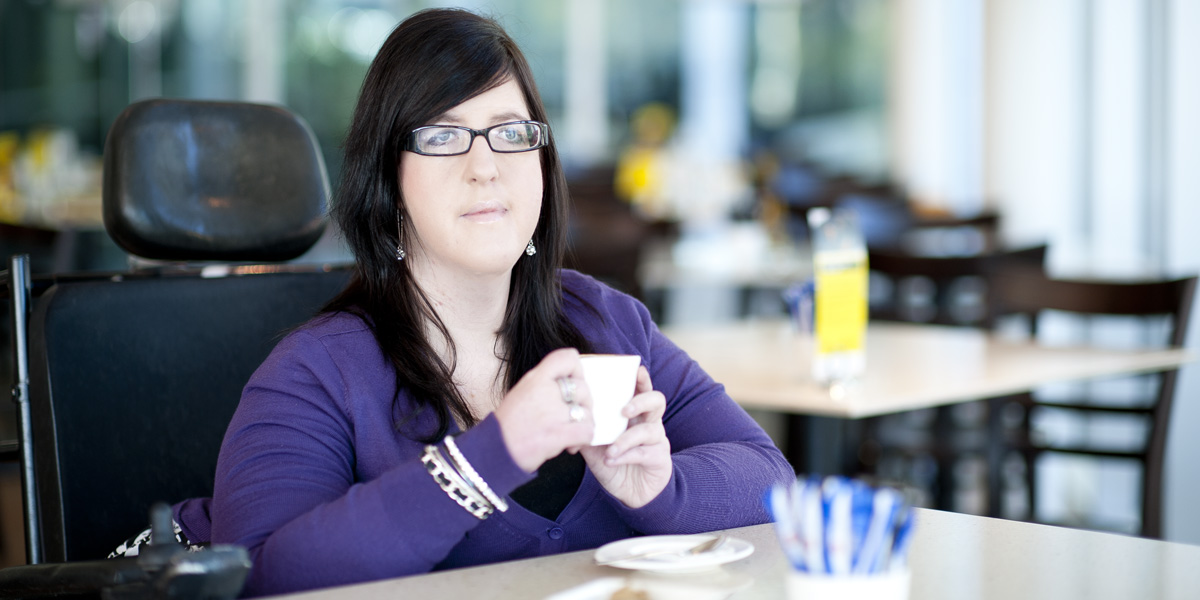 """Lawyer Natalie Wade was taken aback to find """"wheelchair"""" scrawled on her coffee cup. Photo: Nat Rogers/InDaily"""