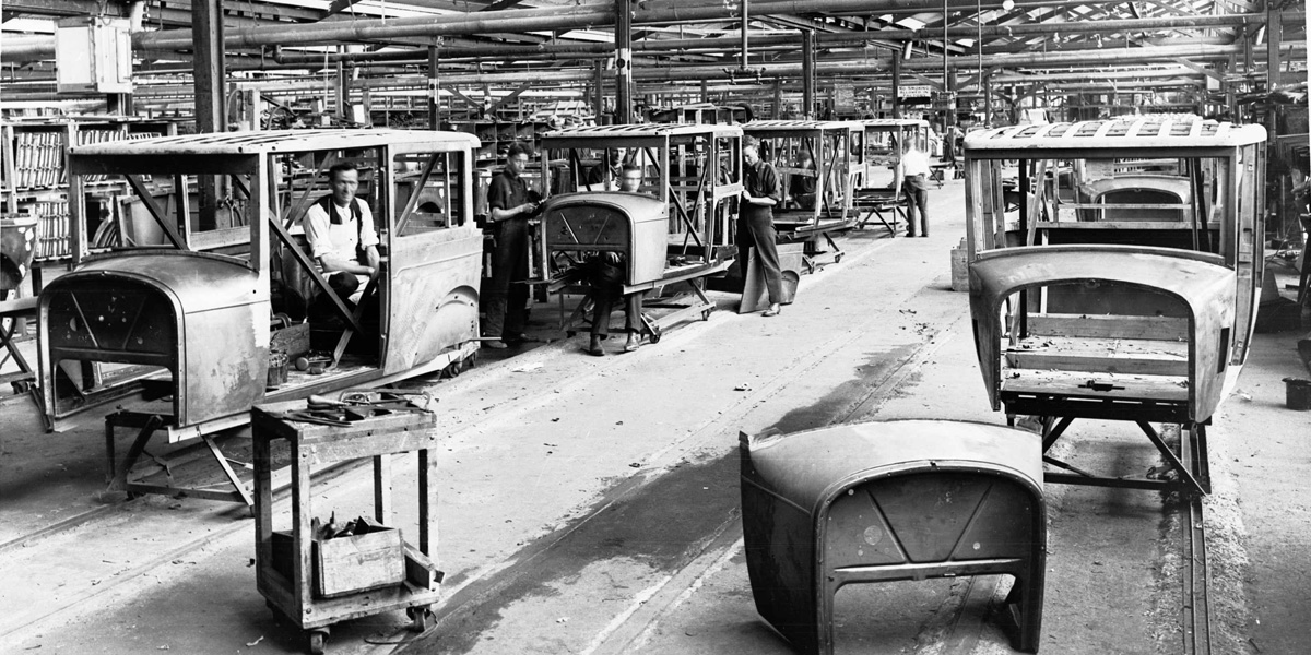 Holden's Woodville motor body works in 1928. Photo courtesy History SA/South Australian Government Photographic Collection