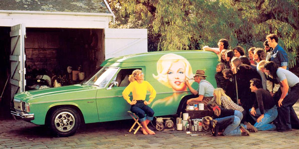 Panel vans were part of Australian life in the 1970s. Photo courtesy Holden