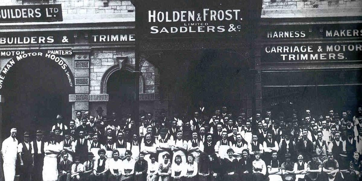 Holden & Frost saddlers, circa 1900. Photo courtesy Holden.