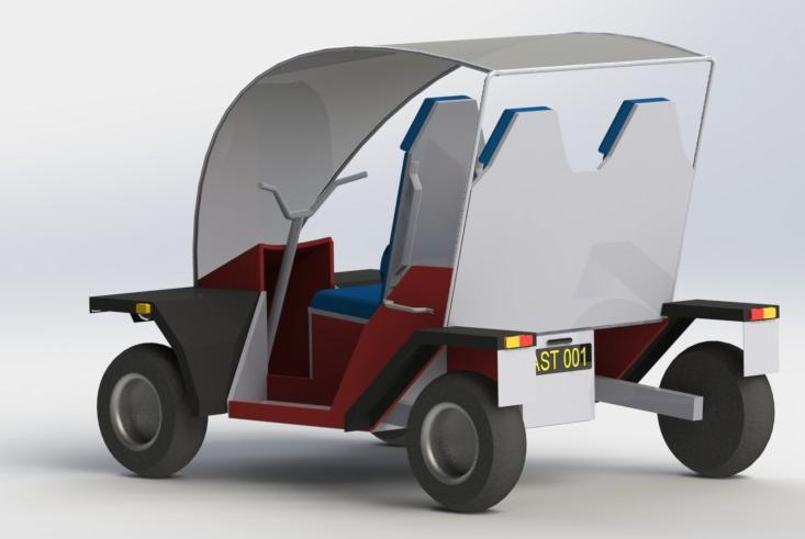 African Solar Taxi Render