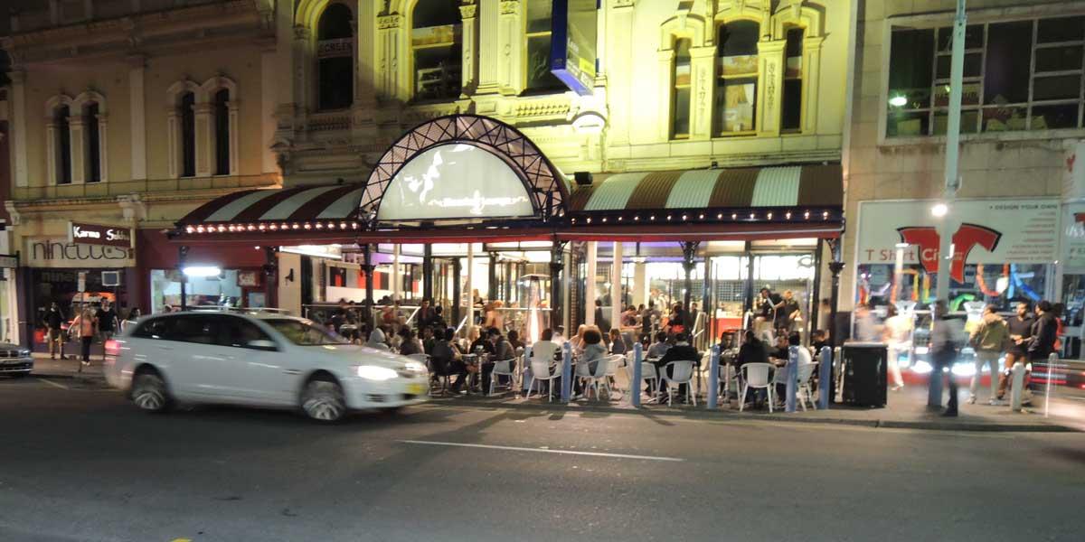 Hindley Street after dark. Photo courtesy Tony Tropeano