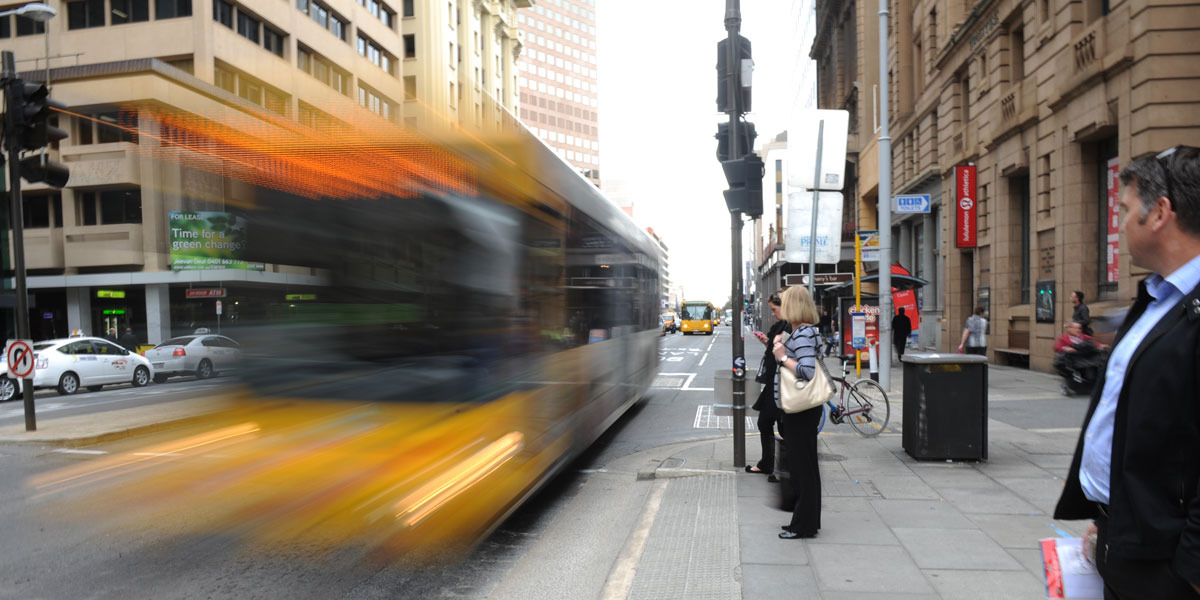 Real-time bus data puts you back in charge, argues Liam Mannix. Photo: Nat Rogers/InDaily.