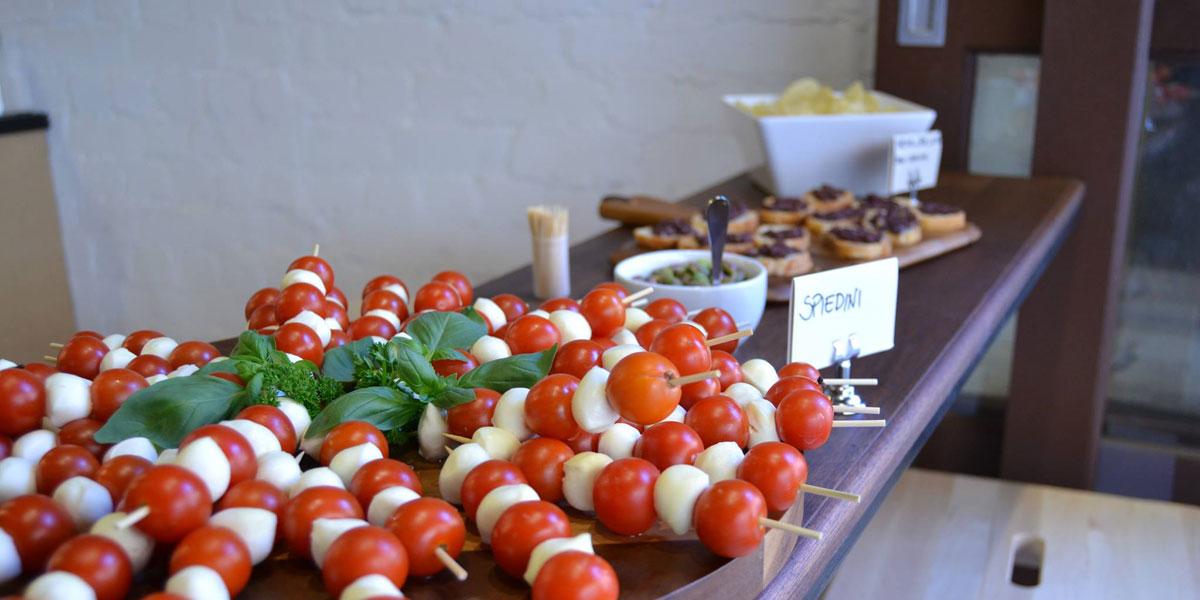 Snacks arrayed on the bar, ready for aperitivo hour. Photo courtesy Il Mondo