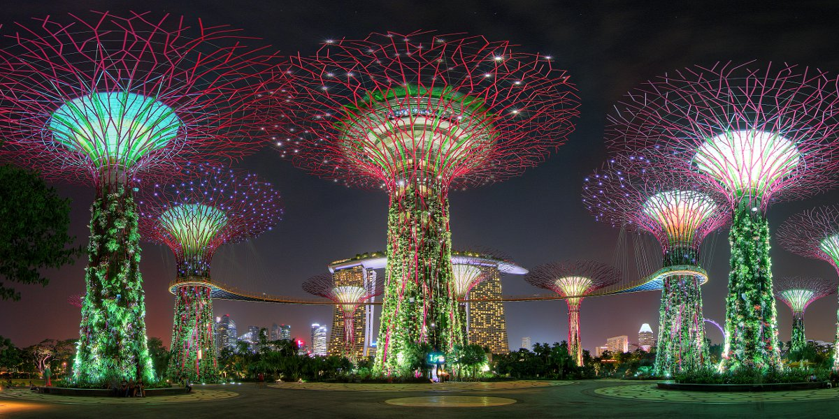 Singapore's giant Gardens by the Bay. Photo: Irwin Soo