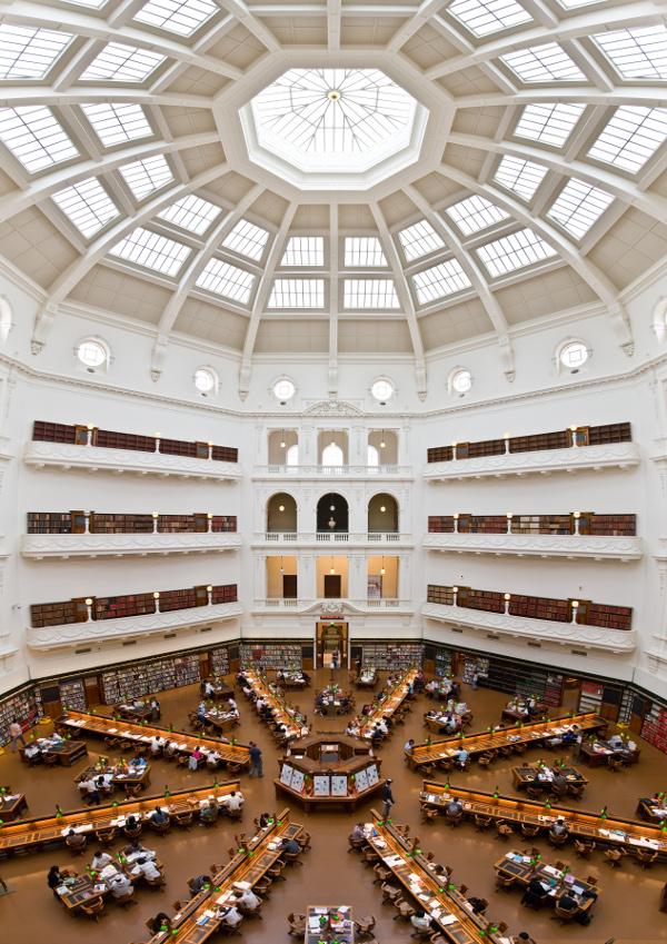 La Trobe Reading Room, State Library of Victoria, Melbourne.