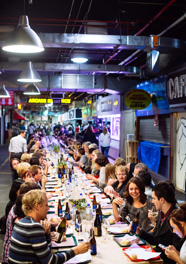 The scene at Saturday night's Market Feast.
