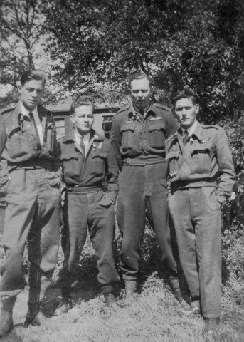 Bob Naffin crew Left to right – Sgt. John Phillips FlSgt. Douglas Tresidder FlSgt. Robert Naffin and Sgt. David Morgan Ellis