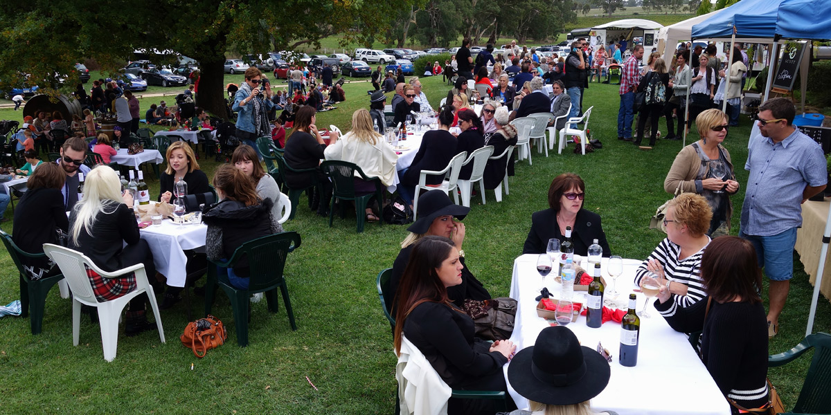 The outdoor event at Howard Vineyard of Nairne.