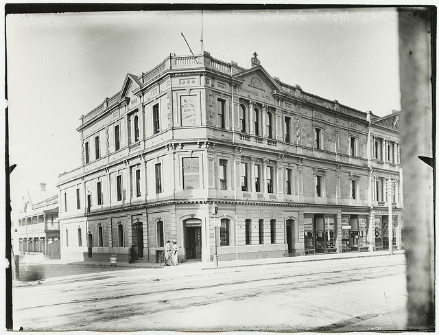 The grand Tavistock Hotel, on the corner of Rundle Street, was demolished to make way for Frome Street. Photo: State Library