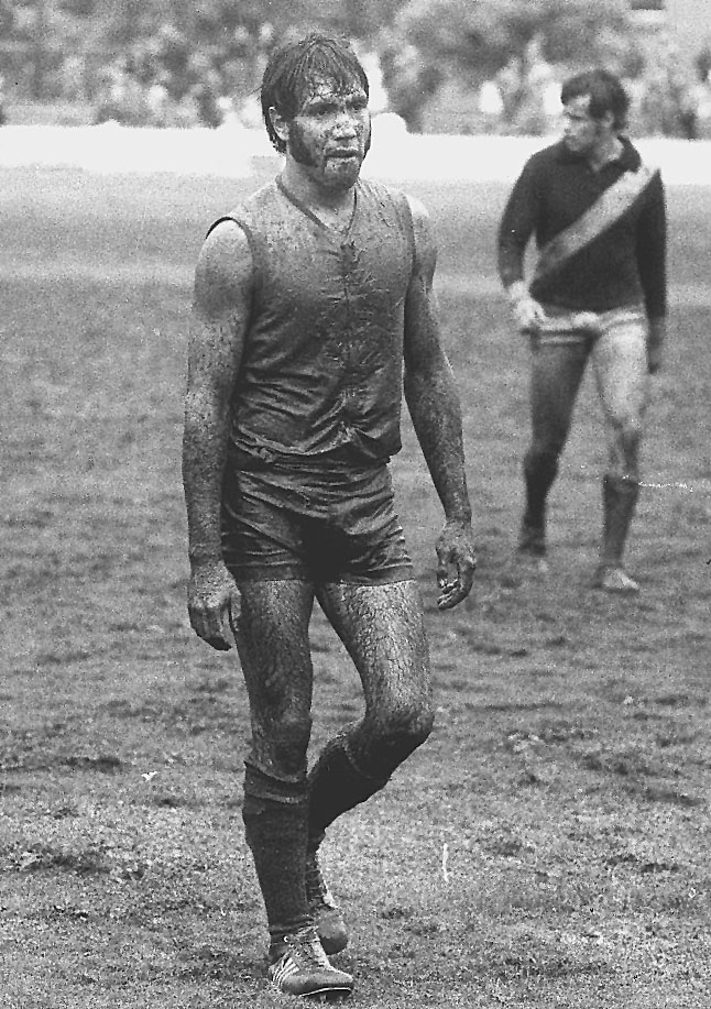 Michael Graham after a muddy day at the office in the 1970s.