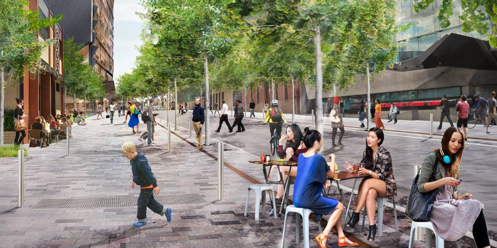 Slippery road worry widens to vic square indaily for Landscape architects in adelaide