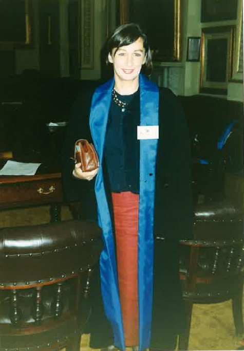 Anne Moran after her first election win in 1995.