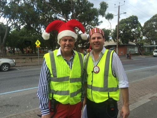 Iain Evans and Sam Duluk getting into the Christmas spirit: Source: Twitter