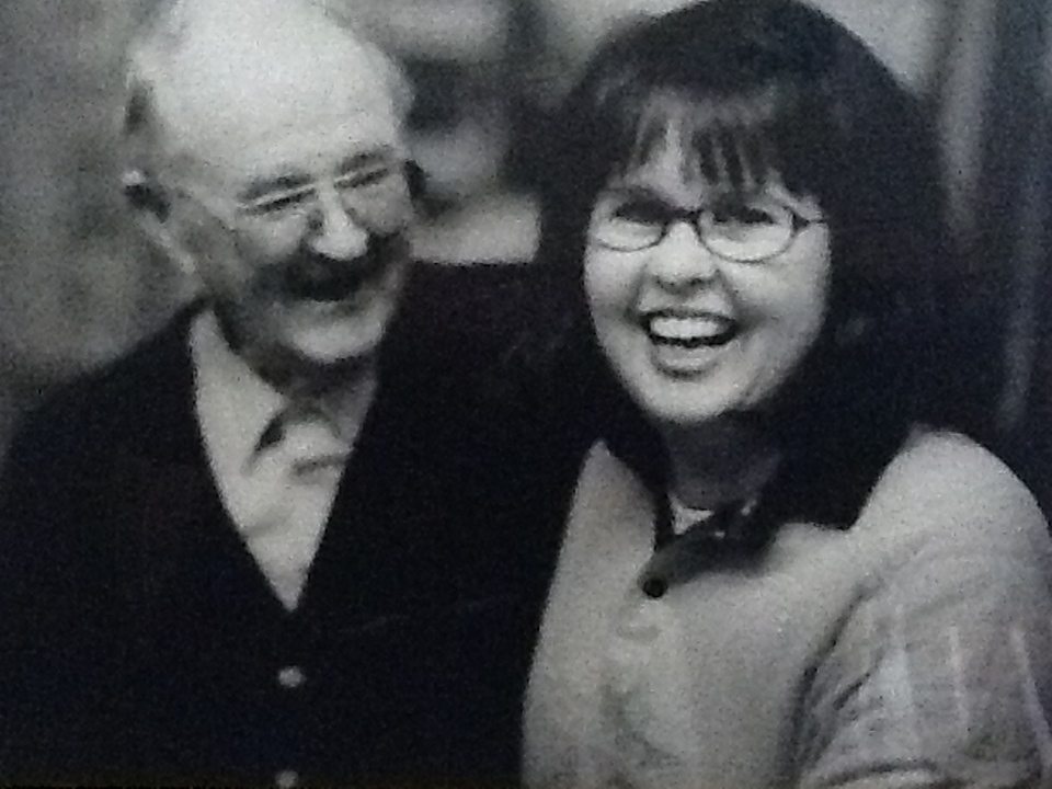 Julie Barry with her dad Jim.