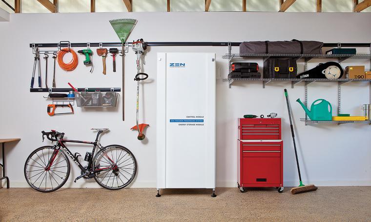 "The Zen Energy ""Powerbank"" uses high density lithium ion batteries to capture renewable energy."