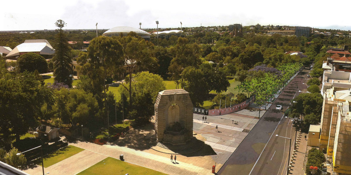 An impression of the Anzac Memorial Centenary Walk, which will reduce the Government House boundary by 10 metres.