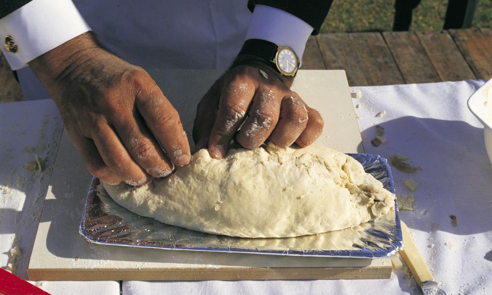 Pasty making at teh Kernewek Lowender festival. Photo: Neale Winter/SATC