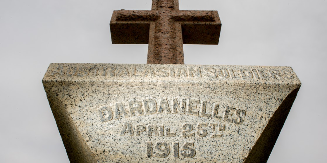 Adelaide's Dardanelles Cenotaph in the southern parklands. Photo: Nat Rogers/InDaily