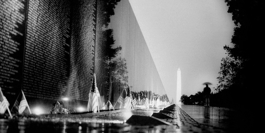 The Vietnam Veterans' memorial in Washington DC.