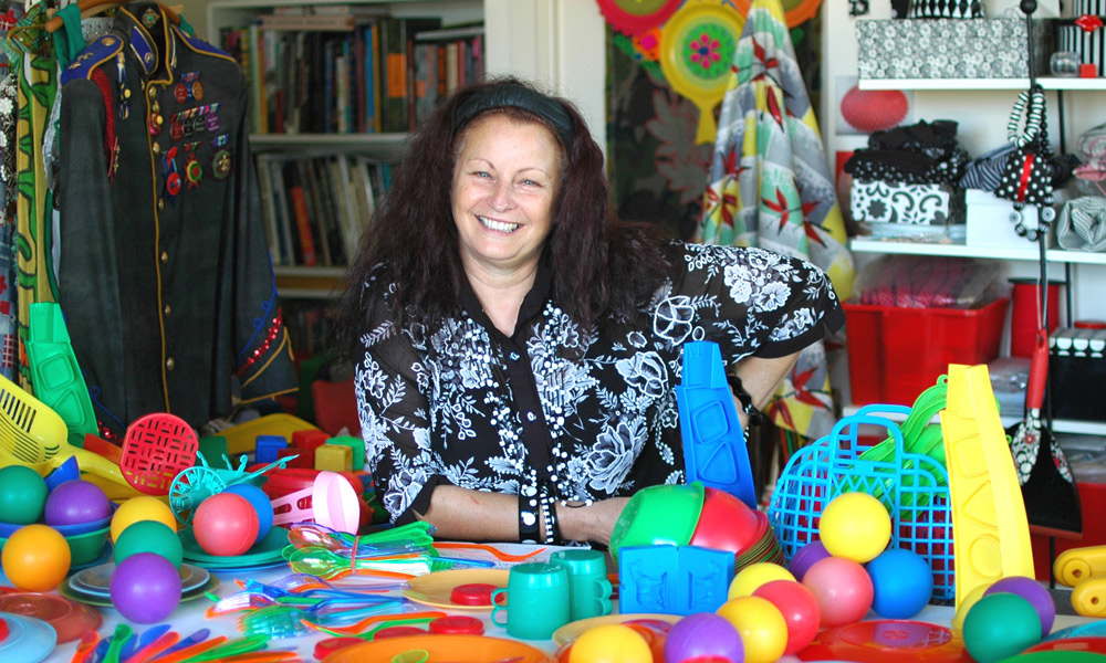 Annabelle Collett in her studio.