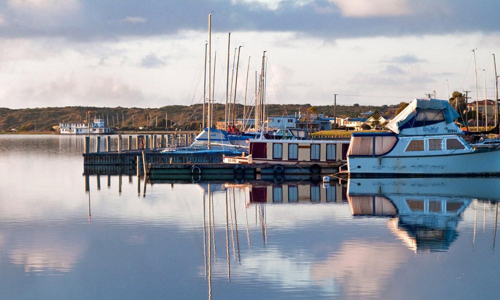 The marina at Goolwa. Photo: Graham Scheer/SATC