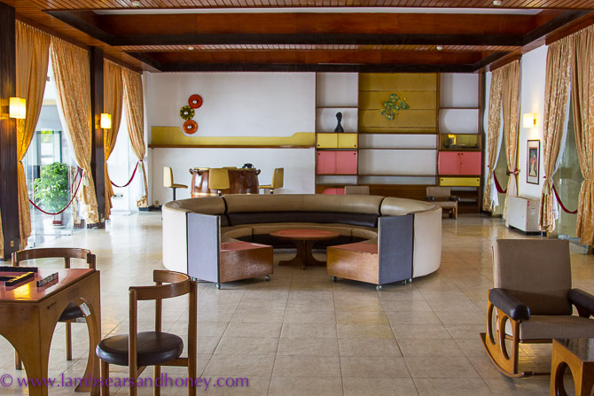 A 1970s conversation pit – Independence Palace, Ho Chi Minh City.