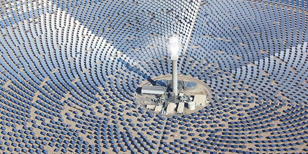 SolarReserve's 110-megawatt solar energy plant with storage.