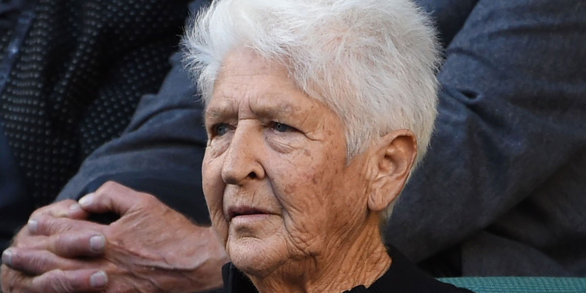 Dawn Fraser at the Australian Open earlier this year. AFP photo