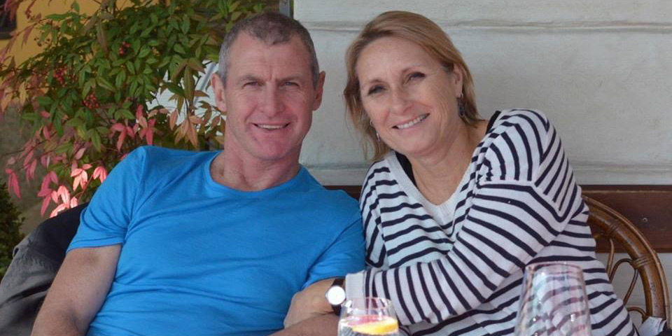 Phil Walsh with wife Meredith.