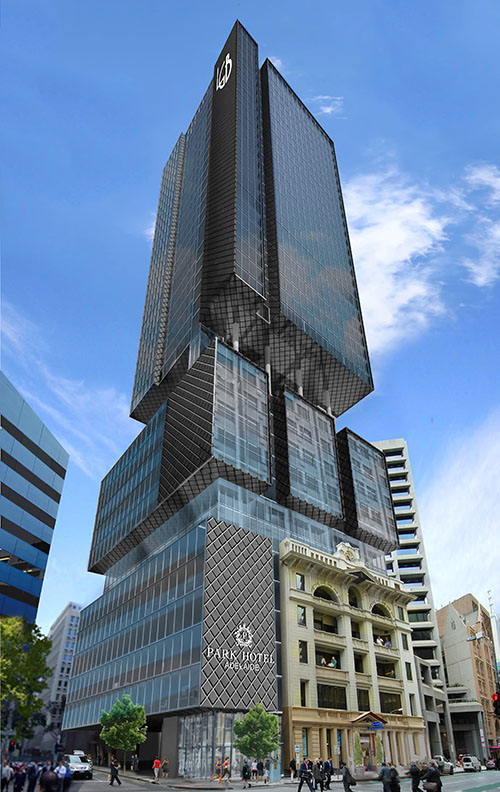 Adelaide 39 s second tallest building set for pirie street for Adelaide residential architects