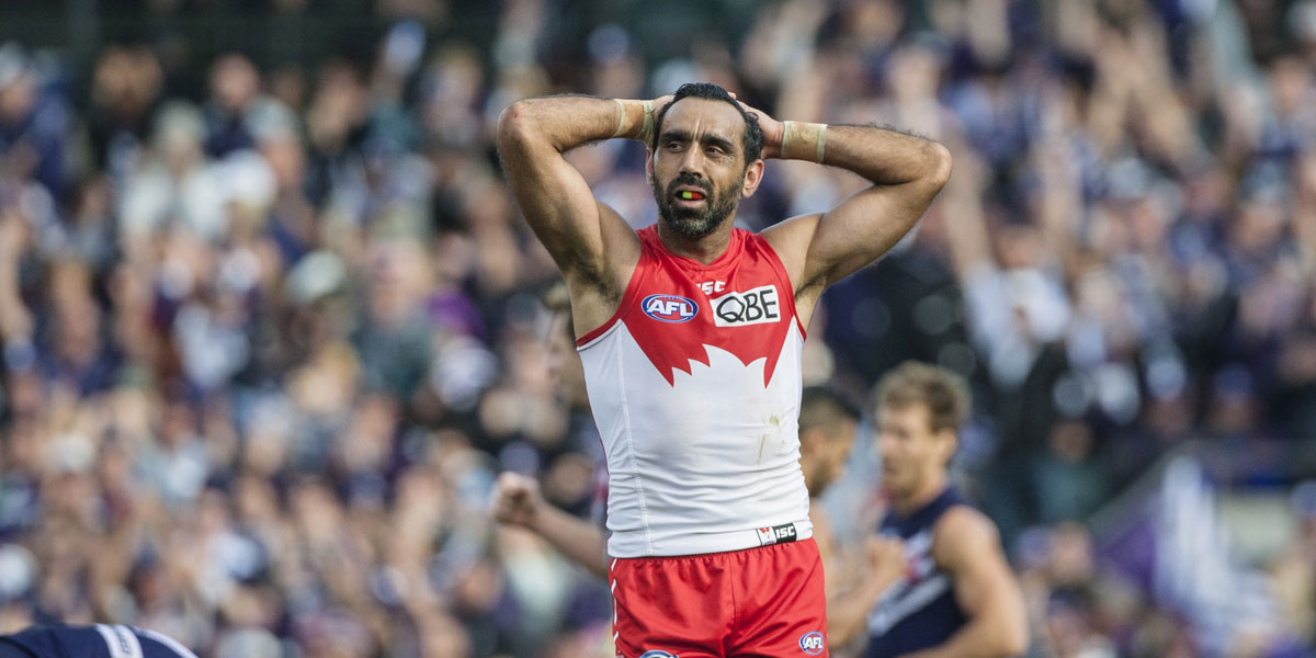 Sydney champion Adam Goodes was booed again on the weekend. AAP image