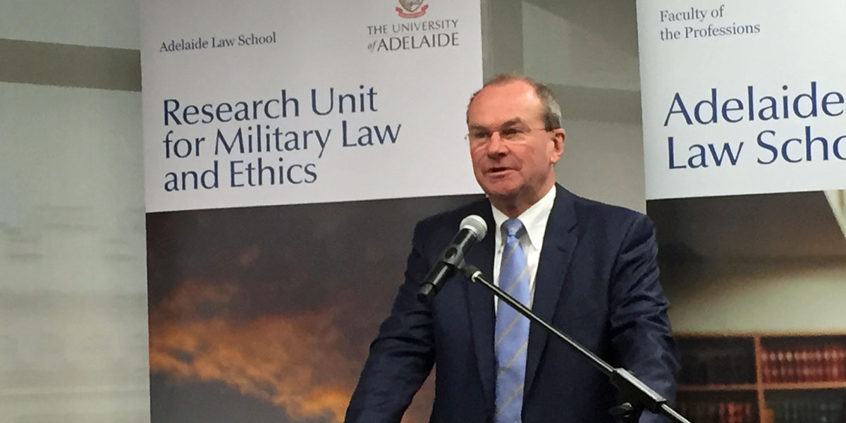 Martin Hamilton-Smith speaking at the seminar today.