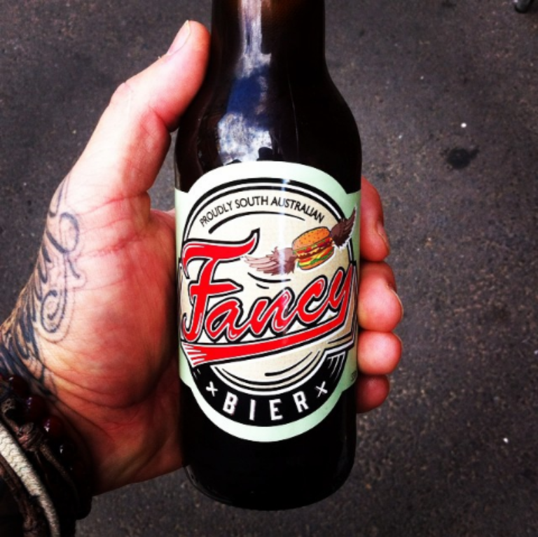 The store boasts its own brand of beer, 'Fancy Bier'. Image: Facebook / Fancy Burgers.