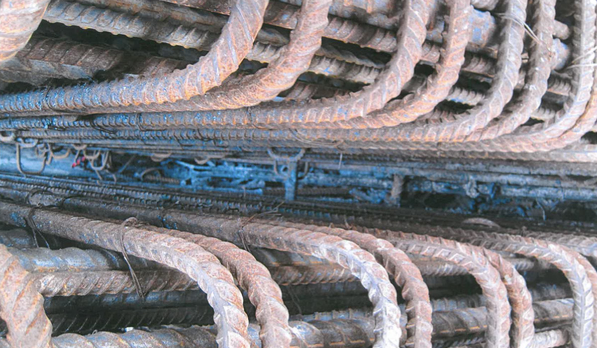 "Experts have questioned how concrete could effectively pass through ""tightly packed"" steel reinforcement. Workers say this photograph was taken on the Superway site."