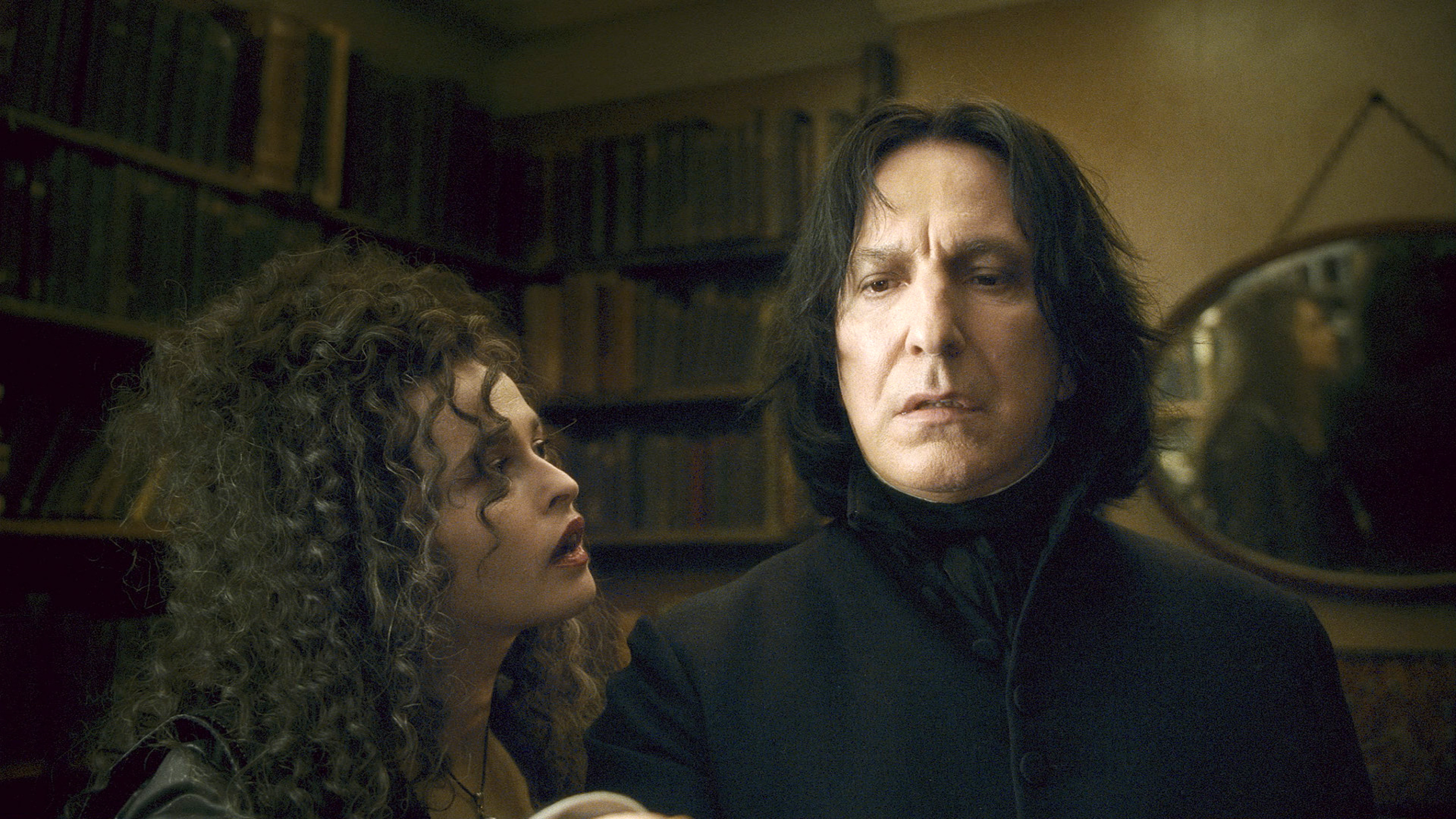 Alan Rickman as Professor Snape in the Harry Potter film series.