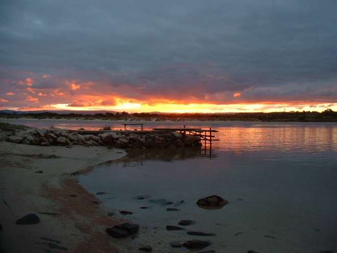 Swanwick Peer sunset. Photo: Freycinet Eco Retreat