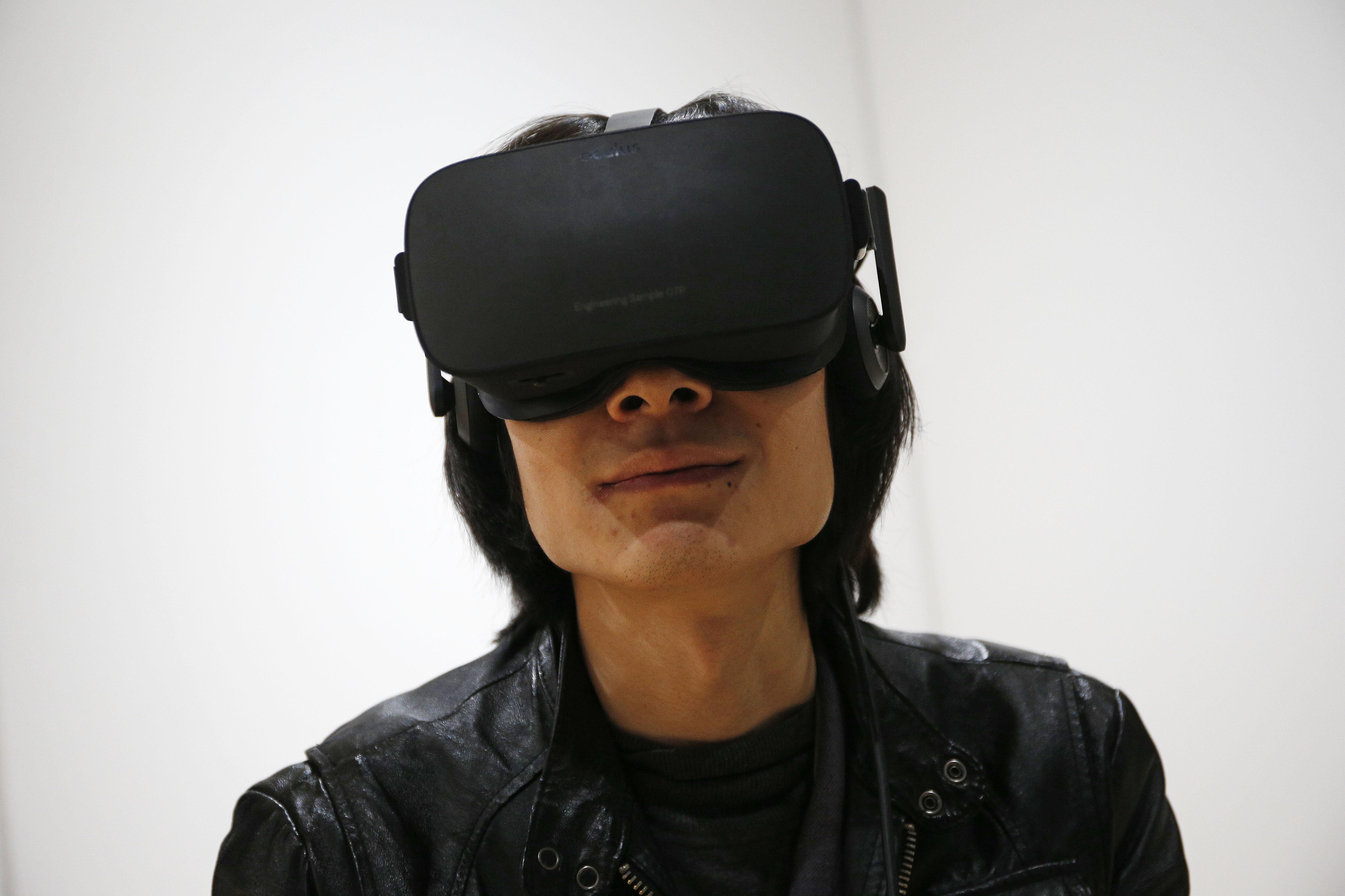 The Oculus Rift VR headset. Photo: AP/John Locher