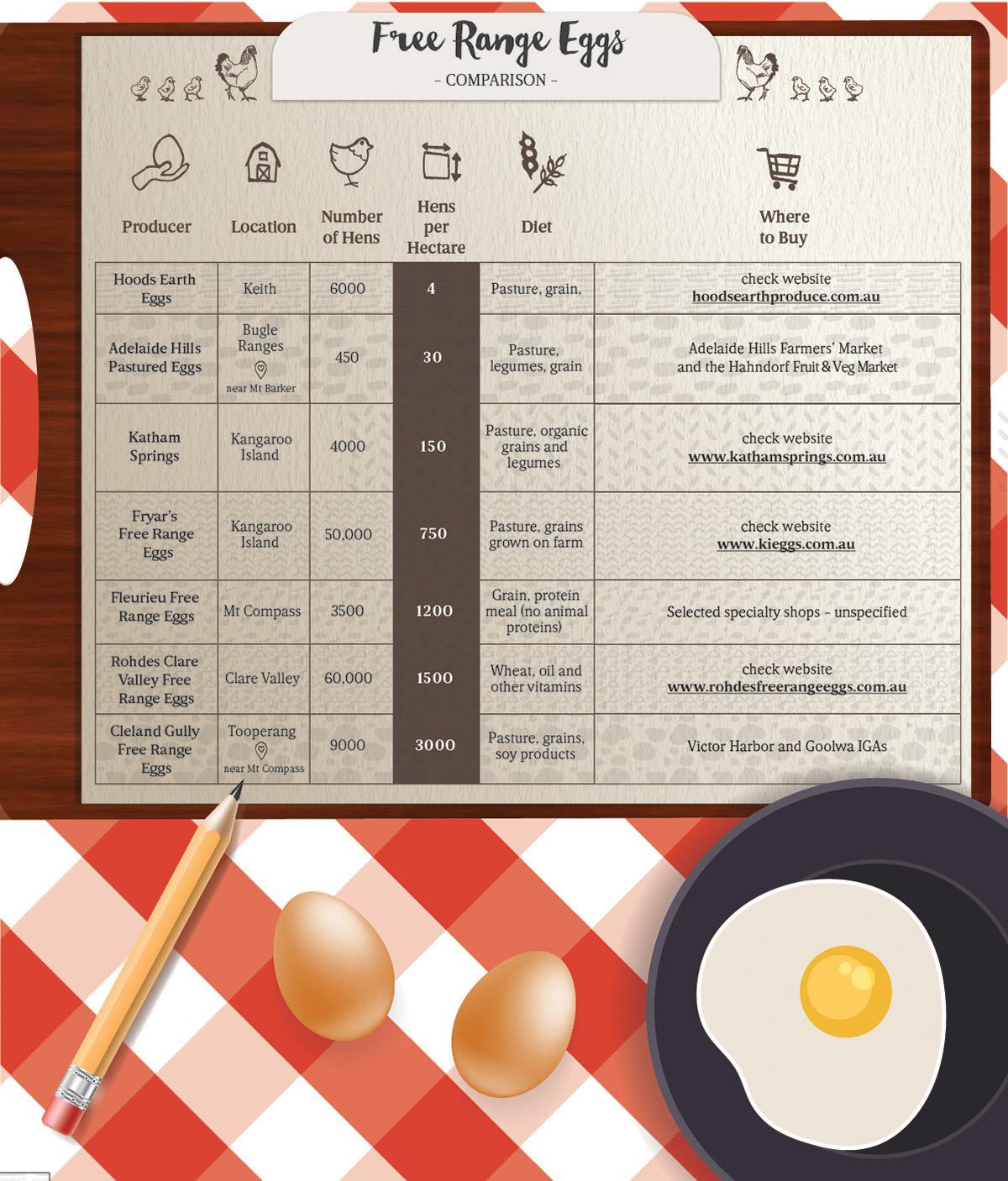 SA free-range egg producers. Illustration: Leah Zahorujko / InDaily