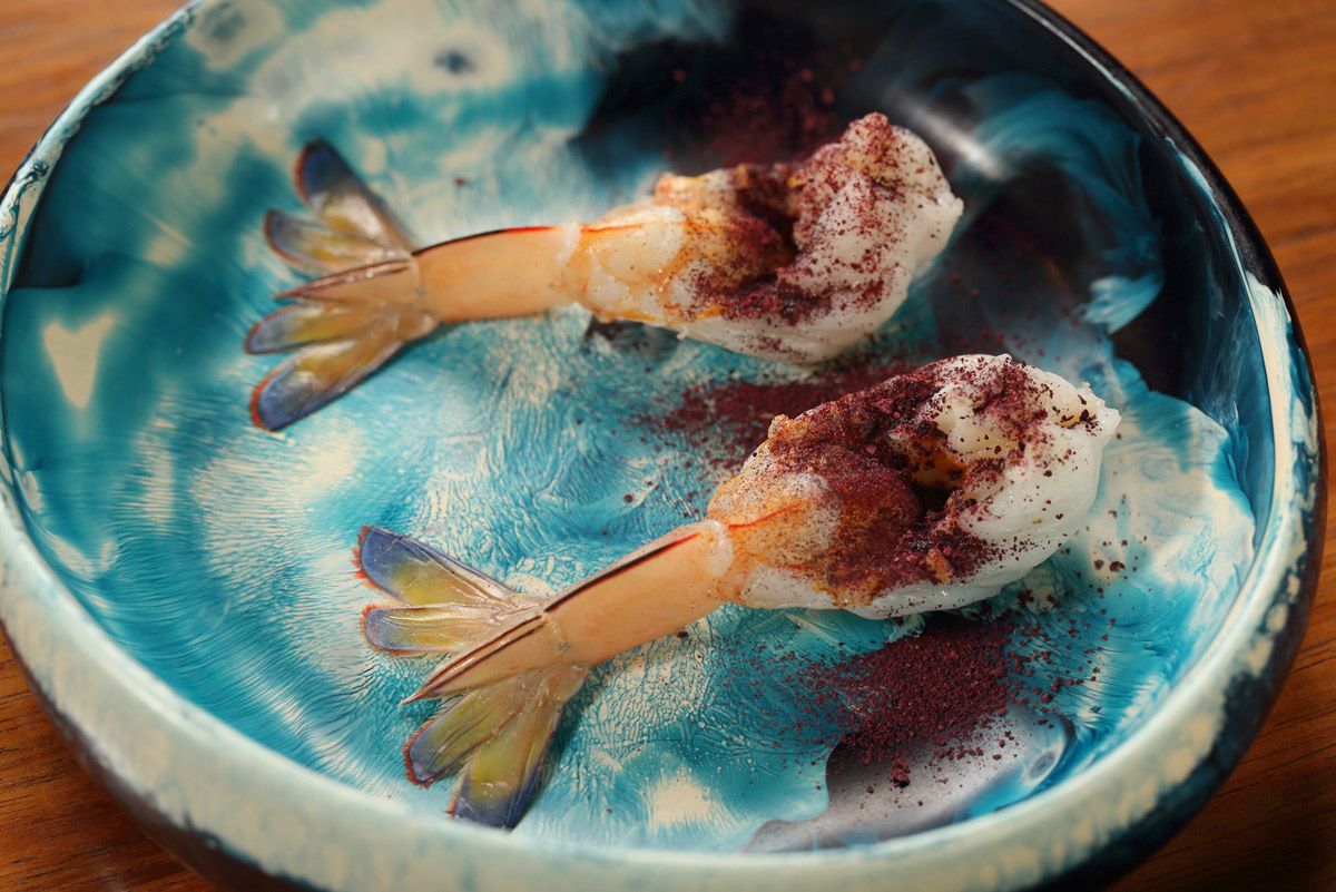 Spencer Gulf prawns - Orana style. Photo: Tony Lewis