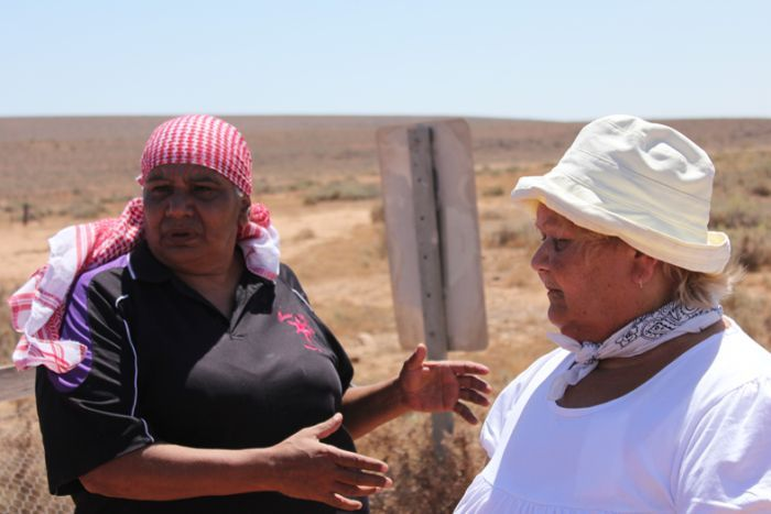 Regina McKenzie (left) with Enice Marsh. Supplied image