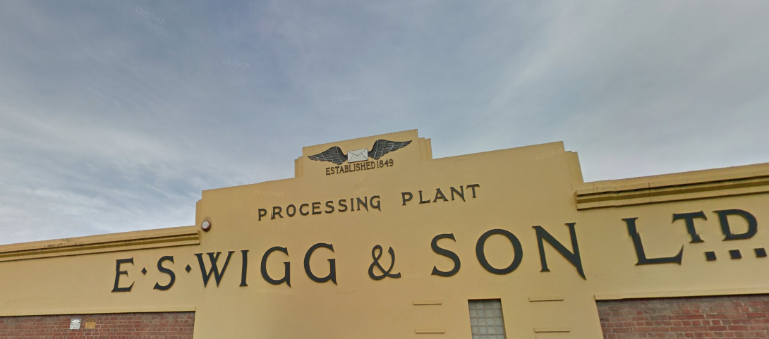 The facade of the ES Wigg & Son premises on Port Road.