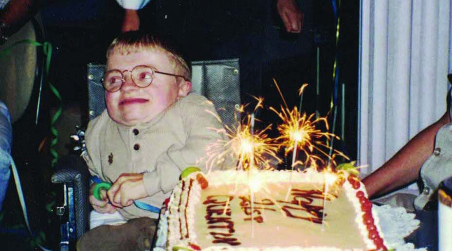 Quentin Kenihan at his 21st birthday party.