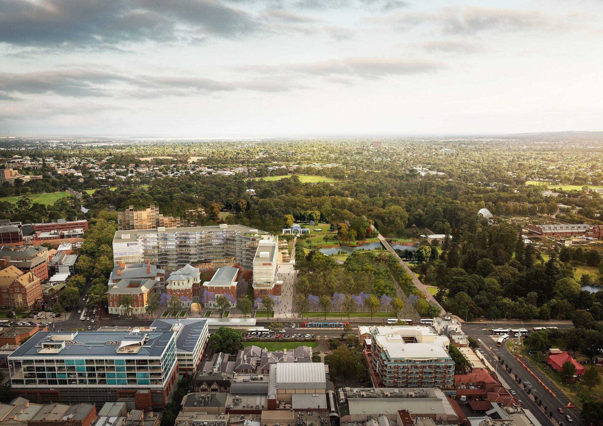 Concepts for the old RAH site released by the Government on the weekend.