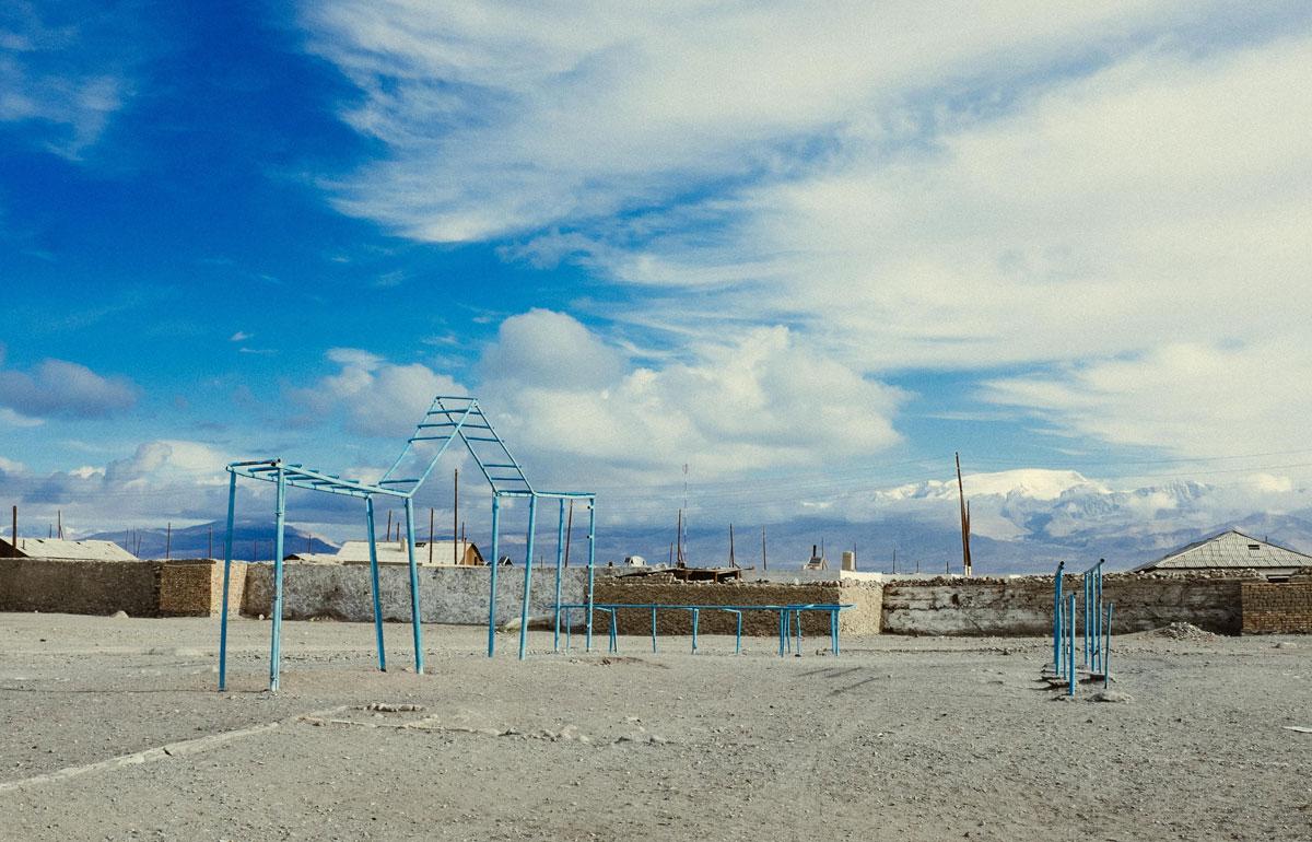 A playground next to the Pamir Highway, Tajikistan. Photo: Ashton Papazahariakis