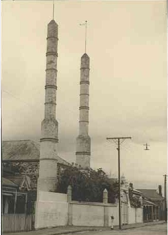 The Mosque pictured in December 1928. Image courtesy of the State Library of South Australia SLSA: B21920, No known copyright restrictions