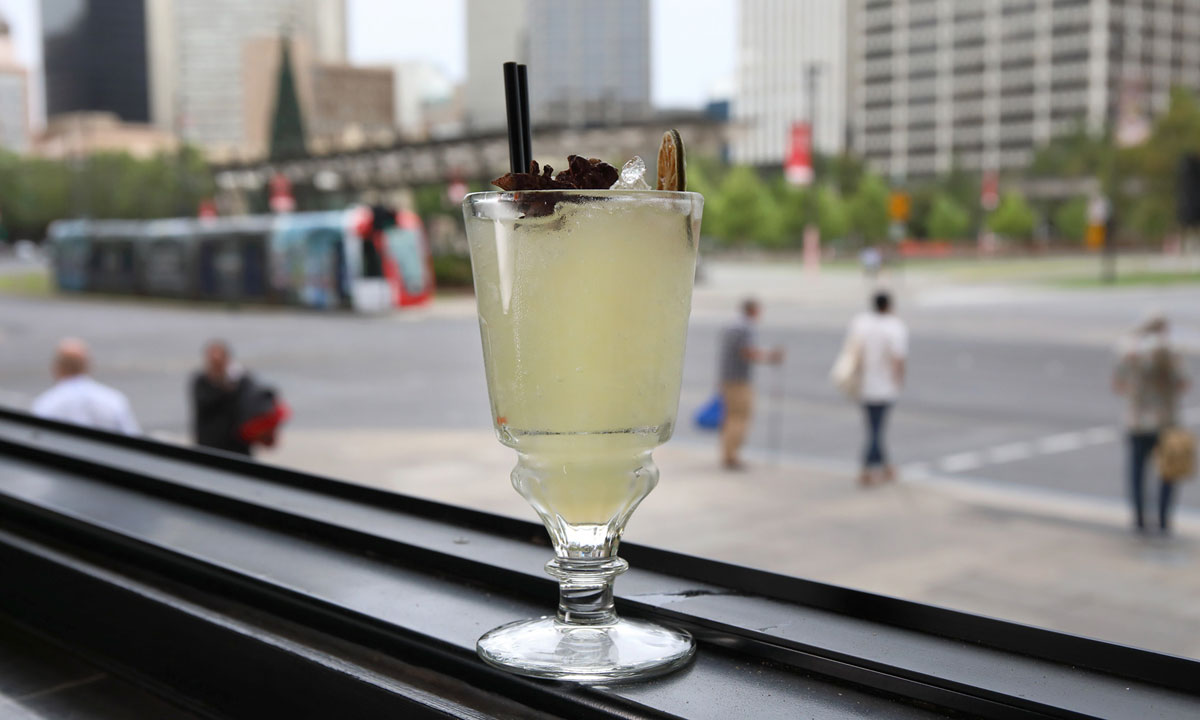 The Collins Bar's Absinthe Frappe. Photo: Tony Lewis