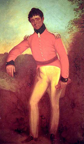 Colonel William Light, self-portrait c. 1815. Image: Wikipedia