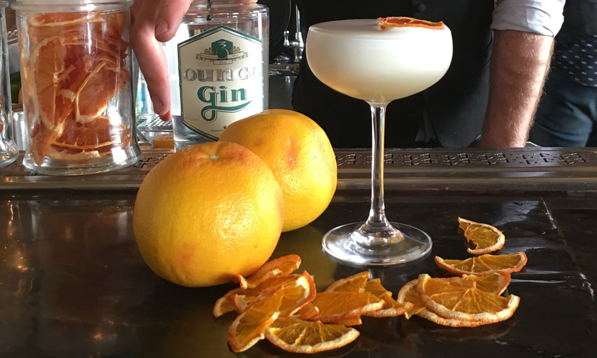 Hains & Co's zesty Gin Sour. Photo: supplied