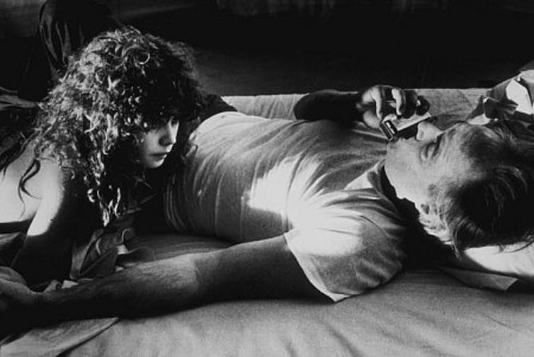 Schneider and Brando in a still from the film.